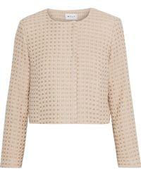 MILLY - Cropped Metallic Wool-blend Tweed Jacket - Lyst