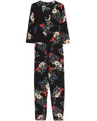 Nicholas - Wrap-effect Floral-print Silk Crepe De Chine Jumpsuit - Lyst