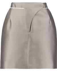 Carven - Grosgrain-trimmed Mikado Mini Skirt - Lyst