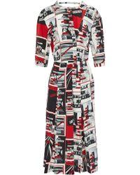 Sonia Rykiel - Printed Silk Crepe De Chine Dress - Lyst
