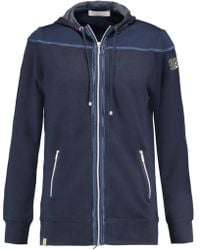 Monreal London - Stretch-jersey Hooded Jacket Midnight Blue - Lyst