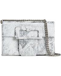 Maison Margiela - Painted Metallic Textured-leather Shoulder Bag - Lyst