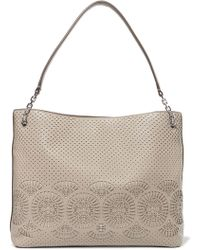 Tory Burch - Perforated Leather Tote - Lyst