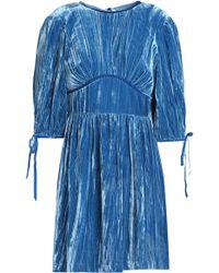 ALEXACHUNG - Gathered Chenille Mini Dress - Lyst