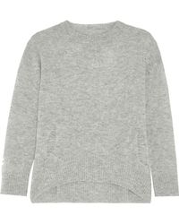 Enza Costa - Distressed Wool And Cashmere-blend Jumper - Lyst
