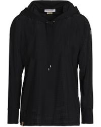 Monreal London - Perforated Stretch Hooded Sweatshirt - Lyst