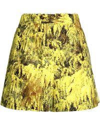 Vionnet - Printed Stretch-cotton Shorts - Lyst