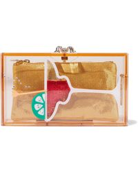 Charlotte Olympia - Pandora Cocktail Embellished Perspex Box Clutch - Lyst