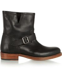 Foot The Coacher - - Erin Leather Ankle Boots - Black - Lyst