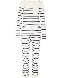 Solid & Striped - Breton Striped Cotton-jersey Jumpsuit - Lyst