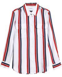 Equipment - Striped Silk-twill Shirt - Lyst