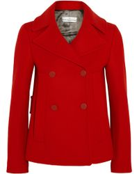 Golden Goose Deluxe Brand - Angelica Double-breasted Wool-blend Peacoat - Lyst