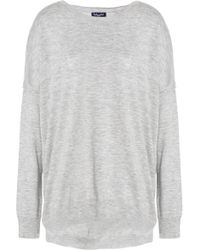 Splendid - Woman Mélange Stretch-knit Sweater Light Gray - Lyst