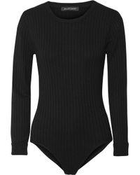 Jill Stuart - Selma Ribbed-knit Bodysuit - Lyst