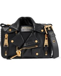 Moschino - Embellished Quilted Leather Shoulder Bag - Lyst