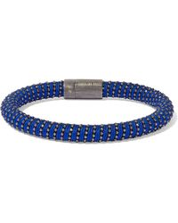 Carolina Bucci - Silver-tone Braided Cord Bracelet Royal Blue - Lyst