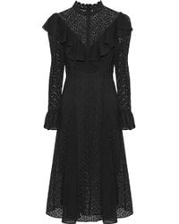 Temperley London - Prairie Ruffled Chiffon-trimmed Guipure Lace Dress - Lyst
