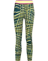 NO KA 'OI - Kela Printed Stretch-jersey Leggings Lime Green - Lyst