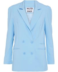 W118 by Walter Baker - Ariel Double-breasted Crepe Blazer - Lyst