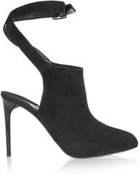 Donna Karan - - Cutout Suede Court Shoes - Black - Lyst