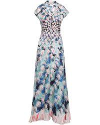 39ca4840c810 Temperley London - Woman Garden Cacti Printed Hammered Silk-blend Satin  Gown Pastel Pink -