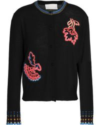 Peter Pilotto - Embroidered Appliquéd Wool Cardigan - Lyst