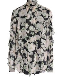 Nicholas Woman Pussy-bow Floral-print Silk Peplum Blouse Pink Size 10 Nicholas Buy Cheap Looking For Online Cheap Price Discount Choice Free Shipping Store Cheap Sale Recommend ize7HDTo