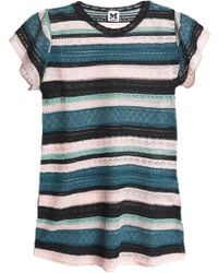 M Missoni - Metallic Crochet And Pointelle-knit Top - Lyst