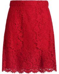 Dolce & Gabbana - Corded Lace Mini Skirt - Lyst