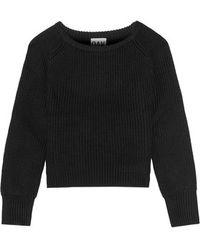 OAK - - Cropped Wool Jumper - Black - Lyst