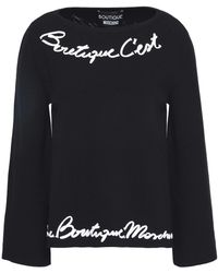 Boutique Moschino - Appliquéd Knitted Top - Lyst