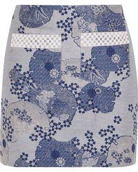 Shrimps - Anne Embellished Cotton-blend Jacquard Mini Skirt - Lyst