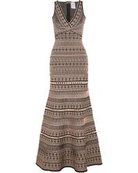 Hervé Léger - Stretch Jacquard-knit Gown - Lyst