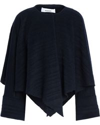 Chalayan - Cape-effect Brushed Wool-blend Jacket - Lyst