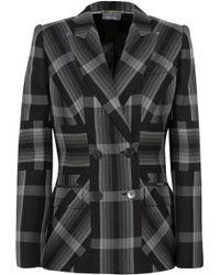 Alexander McQueen - Checked Silk And Wool-blend Blazer - Lyst