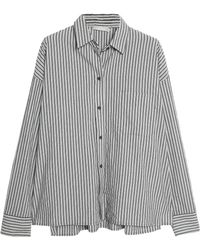 Vince - Striped Cotton-poplin Shirt - Lyst