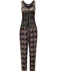 Étoile Isabel Marant - Pleated Printed Silk-georgette Jumpsuit - Lyst