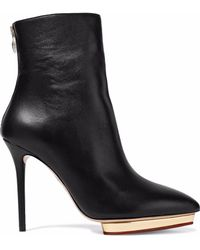 Charlotte Olympia | Leather Ankle Boots | Lyst