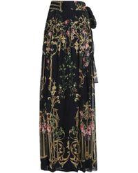 Alberta Ferretti - Pleated Printed Silk-organza Maxi Skirt - Lyst