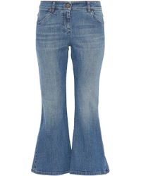 Brunello Cucinelli - Faded Low-rise Kick-flare Jeans - Lyst