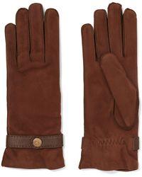 Causse Gantier | Country Leather-trimmed Nubuck Gloves | Lyst