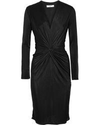 Lanvin - Twist-front Jersey Dress - Lyst