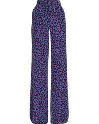Vanessa Seward - Leopard-print Silk Wide-leg Trousers Animal Print - Lyst