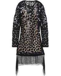 Alexander Wang - Embellished Cotton-blend Lace Mini Dress - Lyst