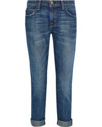 Current/Elliott - The Fling Cropped Distressed Boyfriend Jeans - Lyst