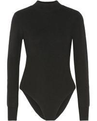 A.L.C. - Tota Cutout Stretch-merino Wool Turtleneck Bodysuit - Lyst