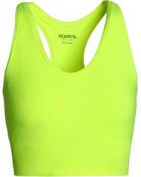 5cb6f465d1ca3 Monreal London - Woman Neon Stretch Sports Bra Bright Yellow - Lyst