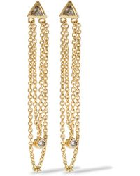 Kevia   - Gold-plated Crystal Earrings   Lyst