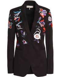 Emilio Pucci - Embroidered Stretch-cotton Twill Blazer - Lyst