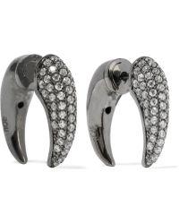 Noir Jewelry - Dorothea Gunmetal-tone Crystal Earrings - Lyst